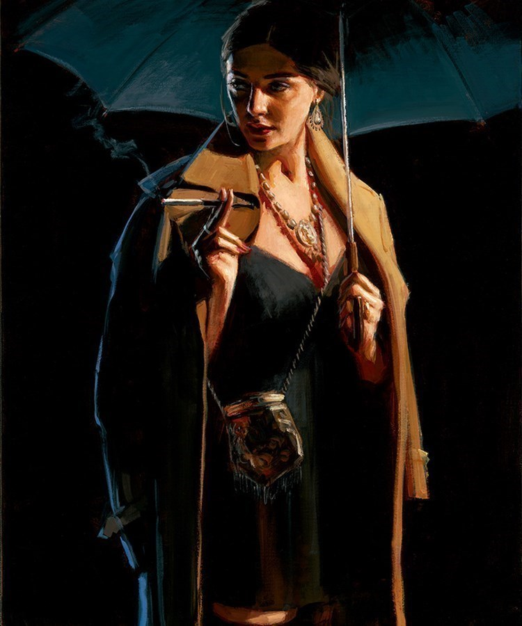 Image: November Rain - Lucy by Fabian Perez | Limited Edition on Canvas